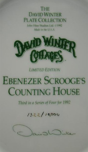 Ebenezer Scrooge's Counting House Plate