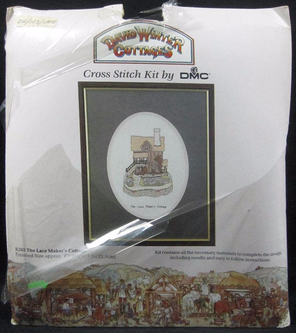 Lace Maker's Cottage Cross Stitch Kit