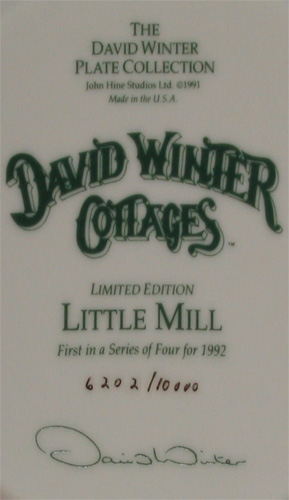 Little Mill Plate