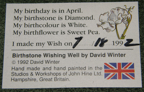 Birthstone Wishing Well