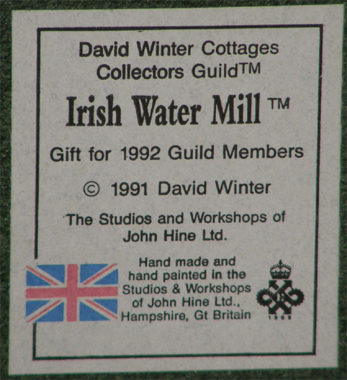 Irish Water Mill (also known as Patrick's Water Mill)