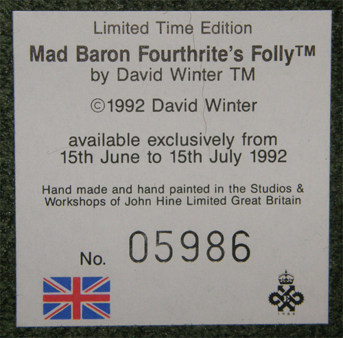 Mad Baron Fourthrite's Folly
