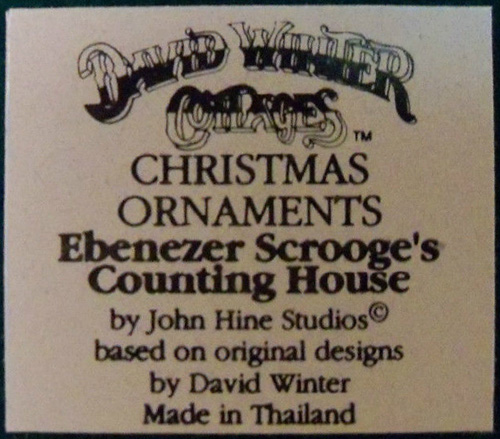 Christmas Ornaments - Ebenezer Scrooge's Counting House