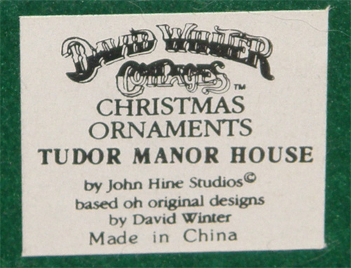 Christmas Ornaments - Tudor Manor House